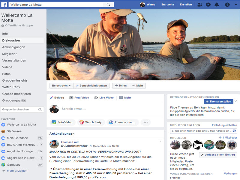 unsere Facebook Gruppe